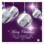 Purple Silver Corporate Christmas Party Invitation