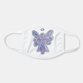 Purple Silver Guardian Angel Art Custom Face Mask