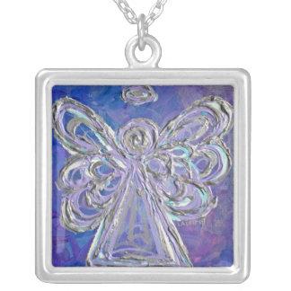 Purple, Silver, & Lavendar Angel Necklace Charm