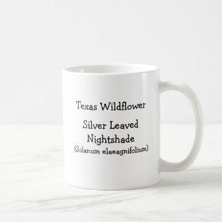 Purple silver-leaved nightshade flowers coffee mug