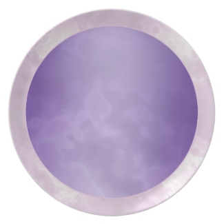 Purple Silver Marbled Melamine Plate