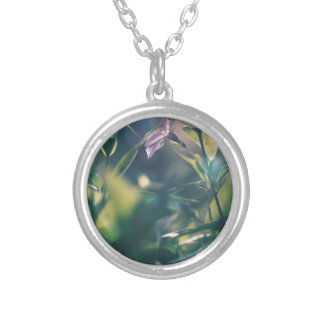 Purple Silver Plated Necklace