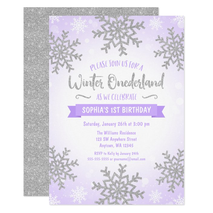 Purple Silver Winter Onederland 1st