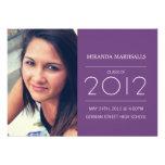 Purple Simplicity Photo Graduation Announcements