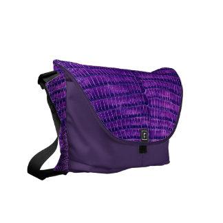 Purple Simulated Alligator Leather Commuter Bags