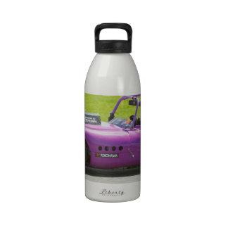 Purple single seater racing car water bottles
