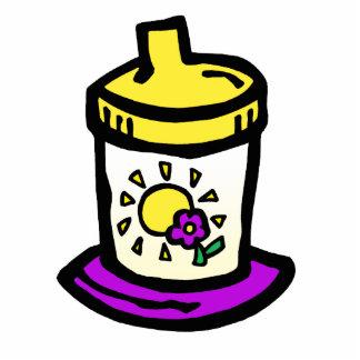 purple sippy cup photo sculpture