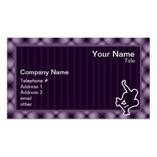Purple Skateboarding Double-Sided Standard Business Cards (Pack Of 100)