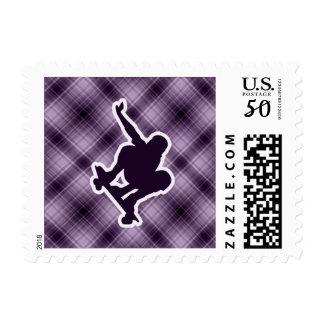 Purple Skateboarding Postage