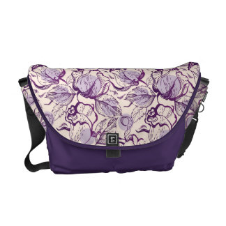 Purple Sketch Courier Bag