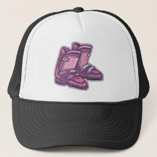 Purple Ski Boots Trucker Hat