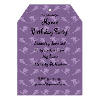 Purple ski pattern 5x7 paper invitation card