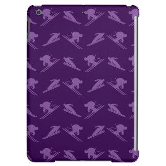 Purple ski pattern iPad air case