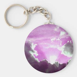 Purple Skies_ Keychain