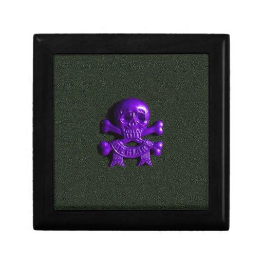 Purple Skull and Cross bones Jewelry Box