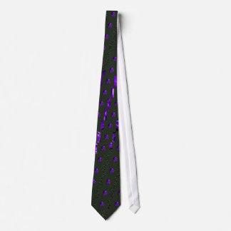 Purple Skull and Cross bones Tie