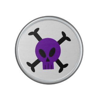 Purple Skull And Crossbones Bumpster Speakers