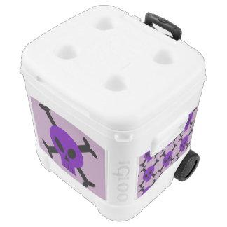 Purple Skull And Crossbones Roller Cooler