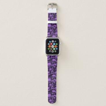 Halloween Themed Purple Skull Apple Watch Band