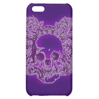 Purple Skull Art Cover For iPhone 5C