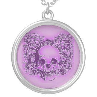 Purple Skull Art Necklace