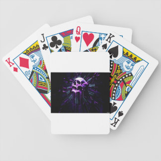 Purple Skull Bicycle Playing Cards