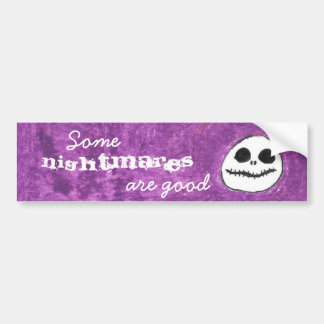Purple Skull Bumper Sticker