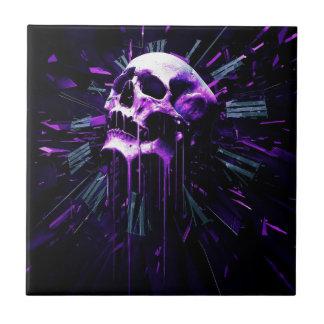 Purple Skull Ceramic Tile