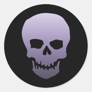 Purple Skull Classic Round Sticker