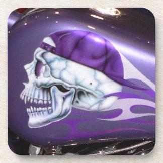 Purple Skull Coasters Set of 6