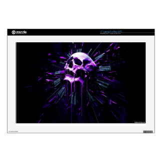 Purple Skull Decal For Laptop