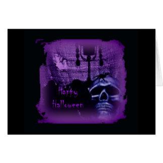 Purple Skull Design Card