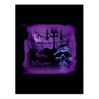 Purple Skull Design Postcard