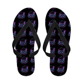 Purple skull Flip-Flops