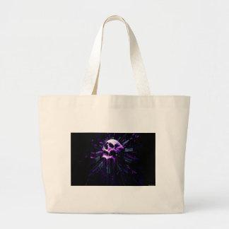 Purple Skull Large Tote Bag