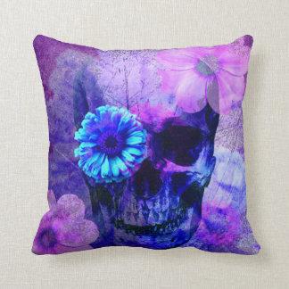 Purple Skull Pillow