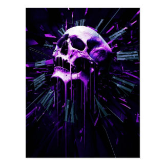 Purple Skull Postcard