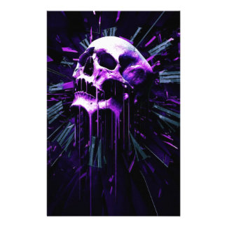 Purple Skull Stationery
