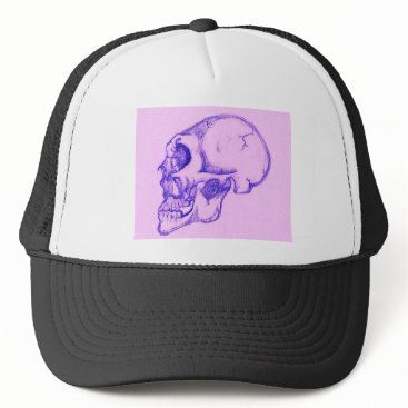 Halloween Themed Purple Skull Trucker Hat