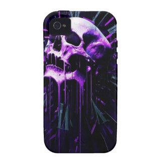 Purple Skull Vibe iPhone 4 Case