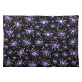 Purple Skull Webs Placemat