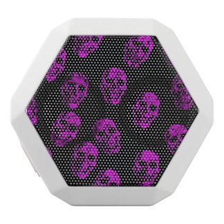 purple skulls white boombot rex bluetooth speaker