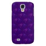 Purple Skulls iPhone Case Samsung Galaxy S4 Cover