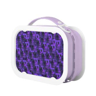 Purple Skulls Lunch Box