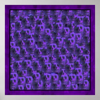 Purple Skulls Poster