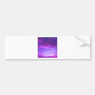 Purple Sky Car Bumper Sticker