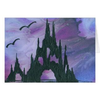 Purple sky castle card