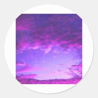 Purple Sky Classic Round Sticker