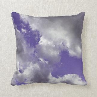 Purple Sky Clouds Throw Pillow