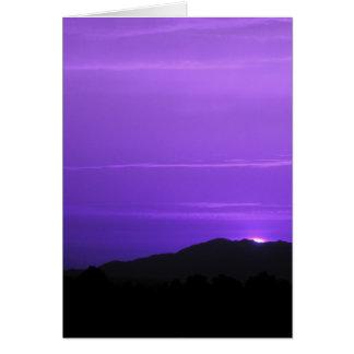 Purple Sky Landscape Card